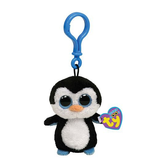Ty Beanie Waddles sleutelclip pinguin 12 cm