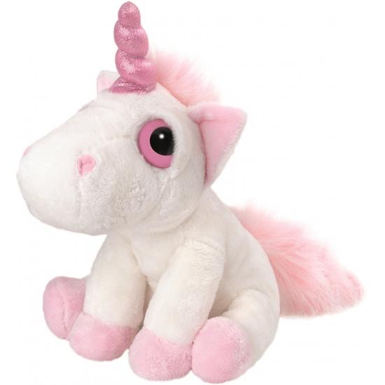 Wit met roze eenhoorn knuffel