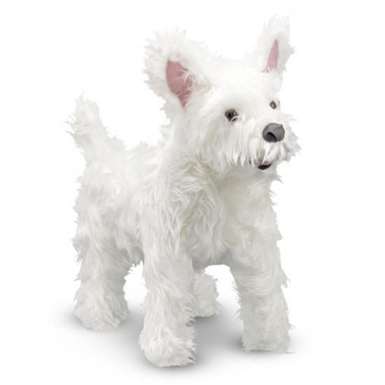 Witte Highland Terrier knuffeldier 40 cm