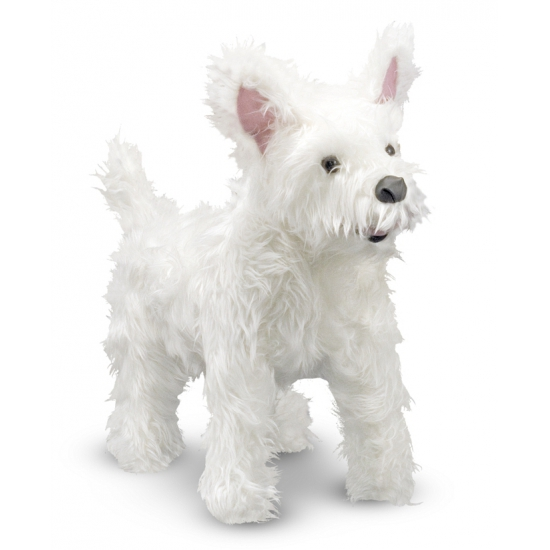 Witte highland Terrier knuffels 40 cm