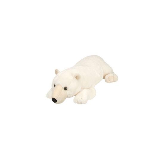 Witte ijsbeer knuffel liggend 76 cm