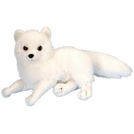 Witte knuffel poolvos 20 cm