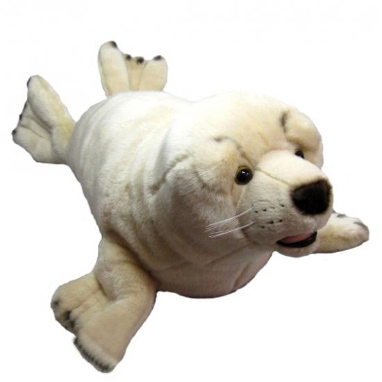 Witte knuffel zeehond 70 cm