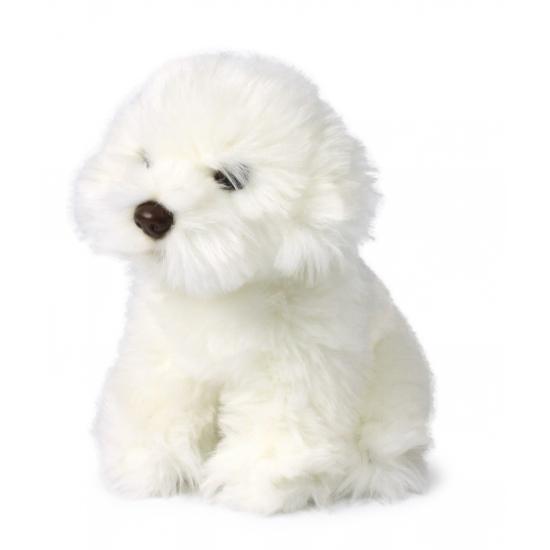 Witte maltezer knuffel hond 18 cm