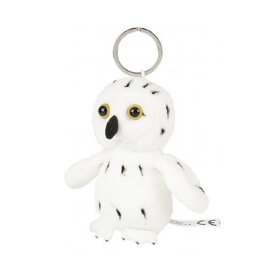 Witte Sneeuwuil sleutelhanger 10 cm