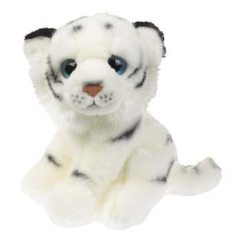 Witte tijger knuffel 18 cm