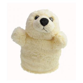 Witte zeehond handpop