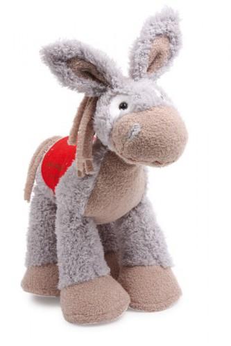 Zachte ezel knuffel 28 cm