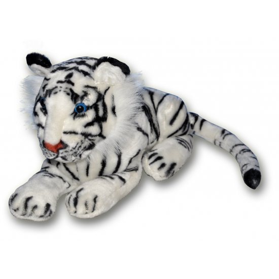 Zachte witte knuffel tijger 36 cm