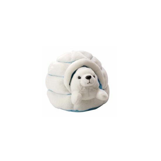 Zeehond knuffels in iglo