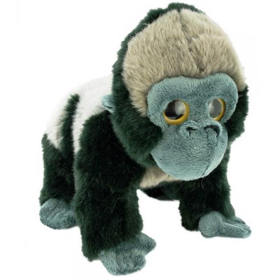 Zilverrug gorilla knuffel pluche 33 cm