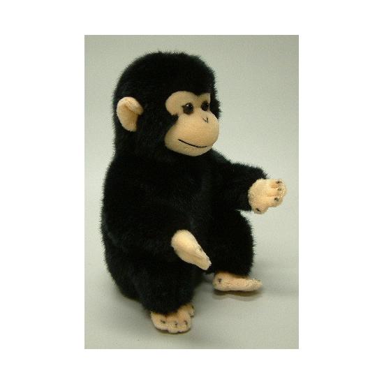 Zittende chimpansee knuffel 20 cm