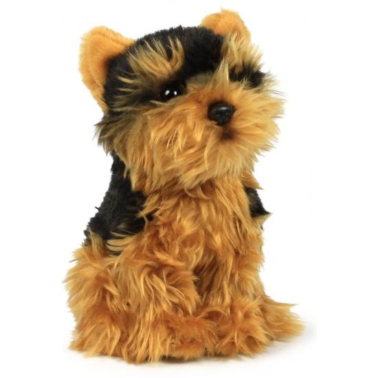 Zittende knuffel Yorkshire hond