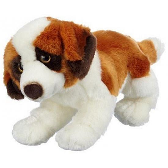 Zittende Sint Bernard hond knuffeldier