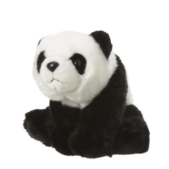 Zwart witte panda van pluche 22 cm