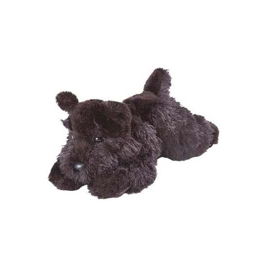 Zwarte knuffel schotse terrier 18 cm