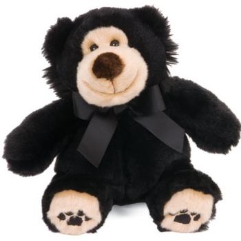 Zwarte knuffelbeer Bruno 30 cm