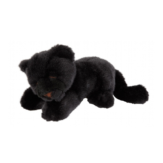 Zwarte panter knuffeltje 20 cm