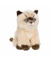 Anna club pluche siamese kat poes knuffel zittend 15 cm