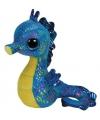 Blauw ty beanie knuffel zeepaardje 15 cm