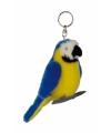 Blauwe ara sleutelhanger 10 cm