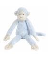Blauwe pluche knuffel aap mickey