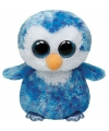 Blauwe ty beanie pinguin knuffel 15 cm