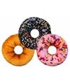 Bruine donut kussen met spikkels 40 cm
