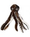 Bruine knuffel octopus 70 cm