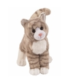 Cyperse kat knuffel grijs 30 cm