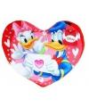Donald en katrien duck hartjes kussen 45 cm