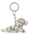 Gevlekt zeehondje sleutelhanger 8 5 cm