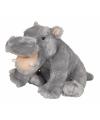 Grijze nijlpaard knuffel 30 cm