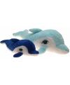 Grote pluche dolfijn 160 cm licht blauw