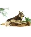 Grote pluche liggende wolf 100 cm