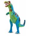 Grote staande t rex knuffel 81 cm