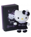 Hello kitty knuffeltje zwart 10 cm