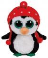 Kerst ty beanie pinguin 15 cm