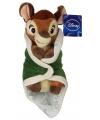 Knuffel bambi in dekentje 25 cm