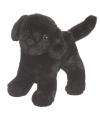 Knuffel hond labrador zwart 20 cm