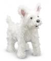 Knuffel hond witte terrier 40 cm