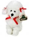 Knuffel hondje witte poedel 21 cm