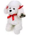 Knuffel hondje witte poedel 28 cm