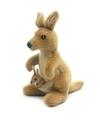 Knuffel kangoeroe met baby 20 cm