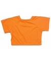 Knuffel kleding oranje t shirt xl voor clothies knuffels