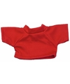 Knuffel kleding rood t shirt s voor clothies knuffels