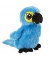 Knuffel papegaai fel blauw 41 cm
