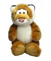 Knuffel tijger zittend 33 cm