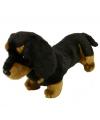 Kortharige teckel knuffel hond 42 cm