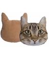 Kussen poes kat beige 30 cm